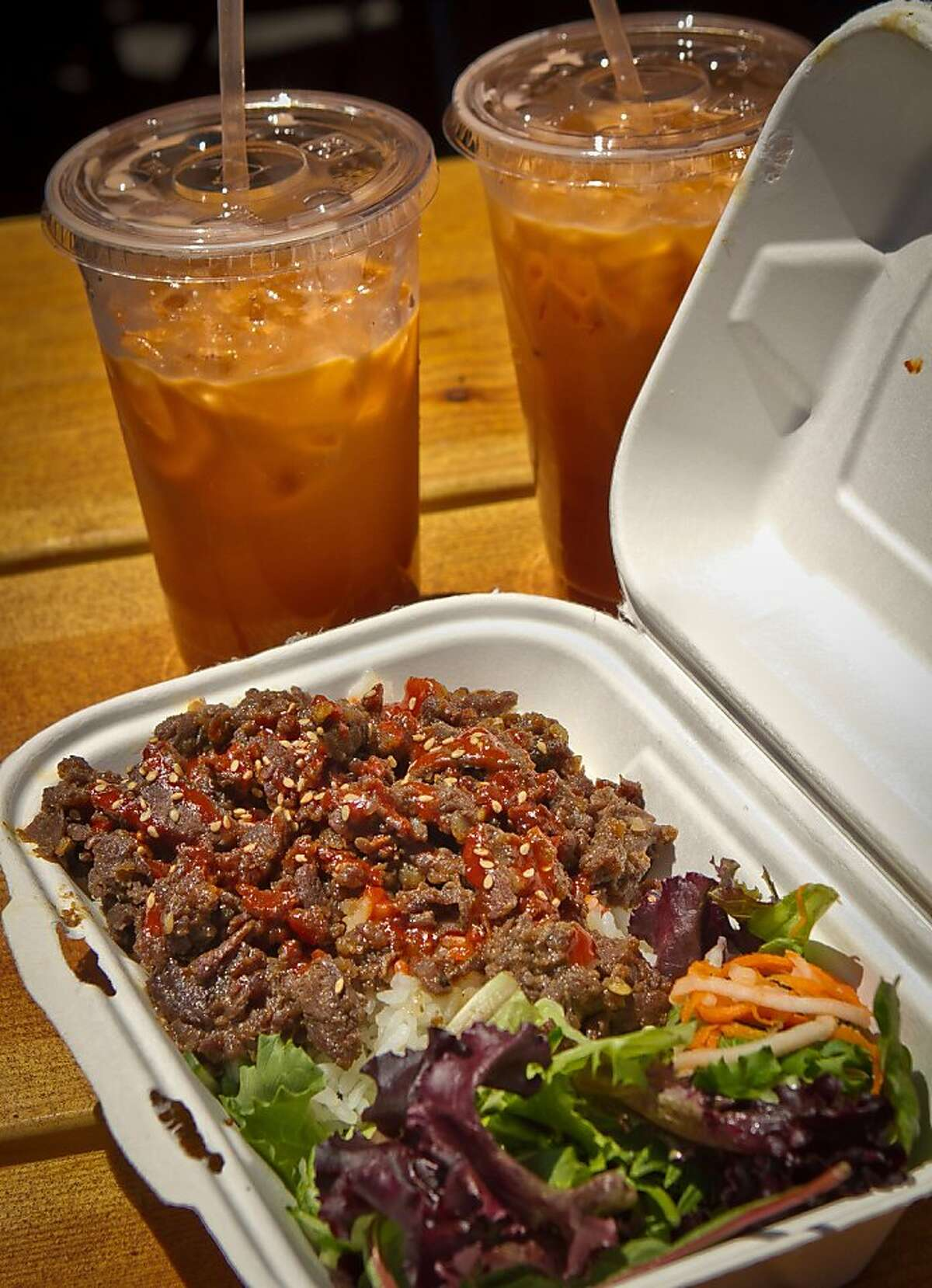 The Beef Bulgogi from the Hiyaa truck at the Streat Food Park in San Francisco, Calif., is seen on Thursday, June 28th, 2012.