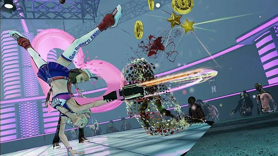 "This video game image released by Warner Bros. shows a high school cheerleader zombie slayer in ""Lollipop Chainsaw."" (AP Photo/Warner Bros.) Photo: Warner Bros., Associated Press"
