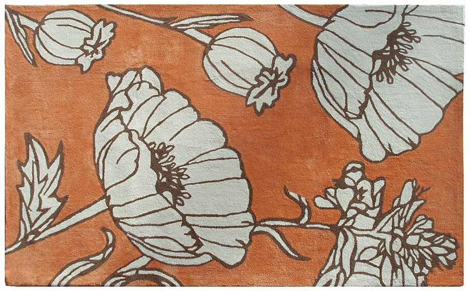 More: Orange Floral Rugs from Zinc Door Photo: Zinc Door