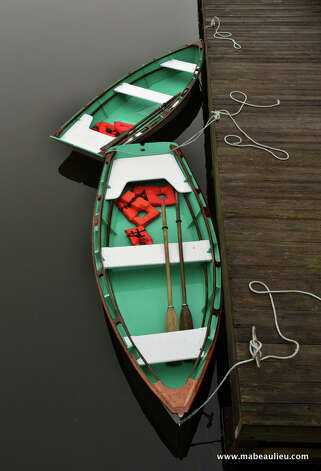 """Row Your Boat,"" by artist Michelle Beaulieu, will be included in an exhibition of marine art honoring Bridgeport legend Kaye Williams. Photo: Contributed Photo"