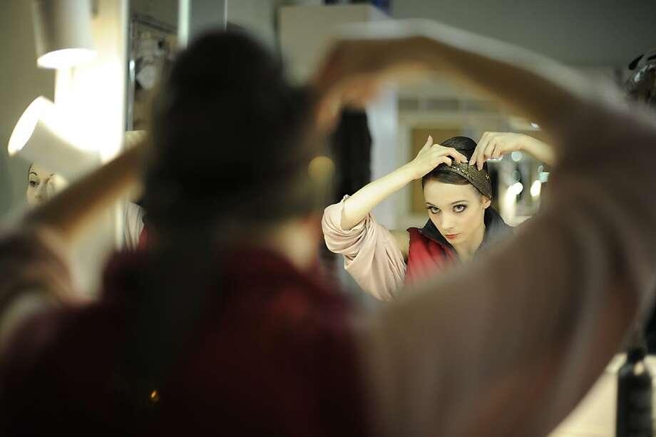 Maria Kochetkova during reherasal at the Bolshoi Photo: Erik Tomasson