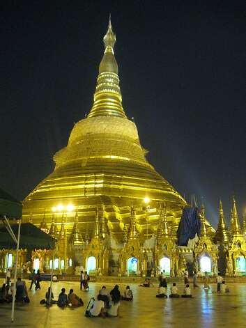 The 325-foot-tall Shwedagon Pagoda in Yangon is the epicenter of Burmese Buddhism. Photo: David Farley
