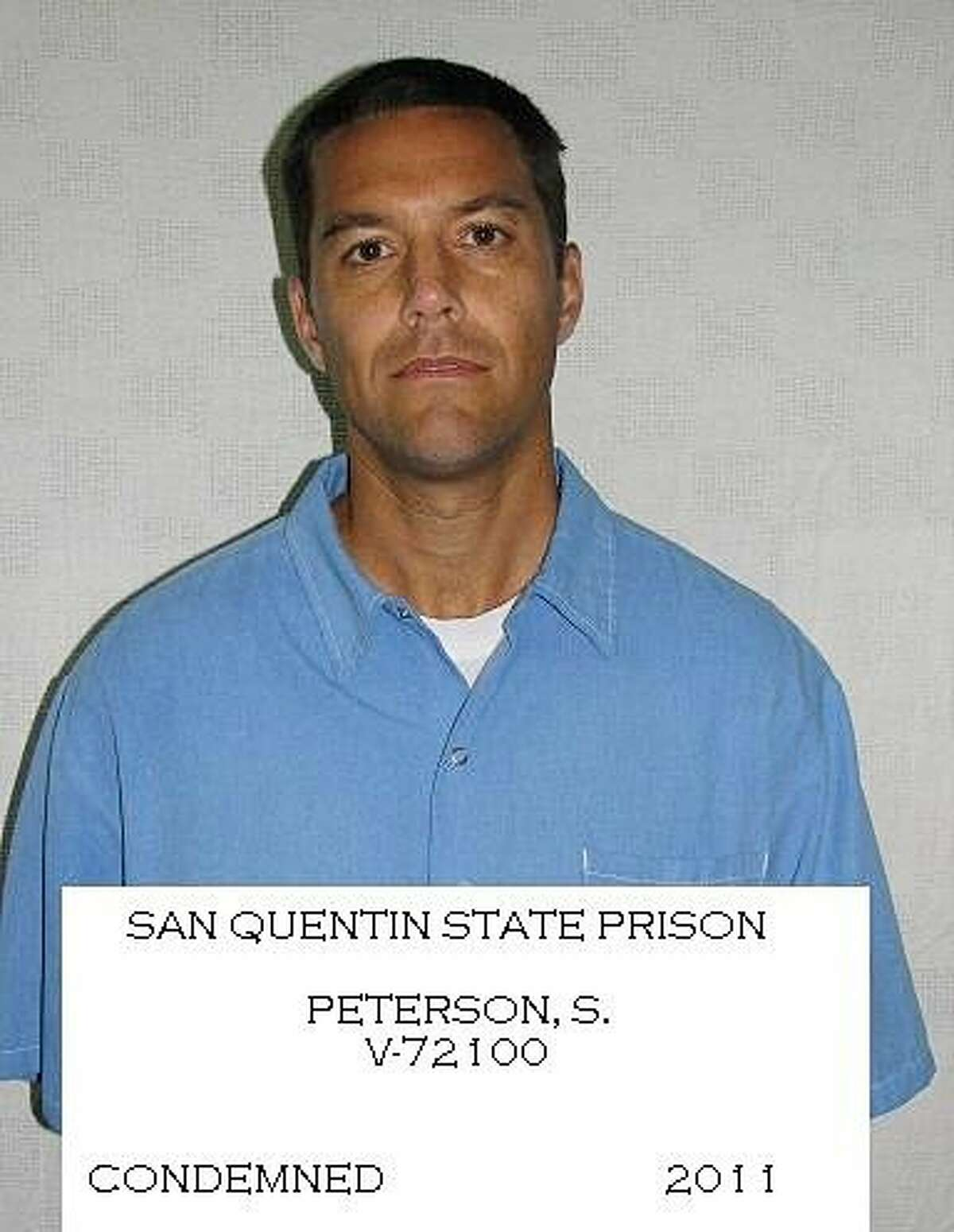 File - Shown in this 2011 file photo released by the California Dept. of Corrections is Scott Peterson who is on death row at San Quentin State Prison. Eight years after he was sentenced to death for the murders of his wife and unborn son, Peterson has filed an automatic appeal to the California Supreme Court. (AP Photo/Calif. Dept. of Corrections, File)