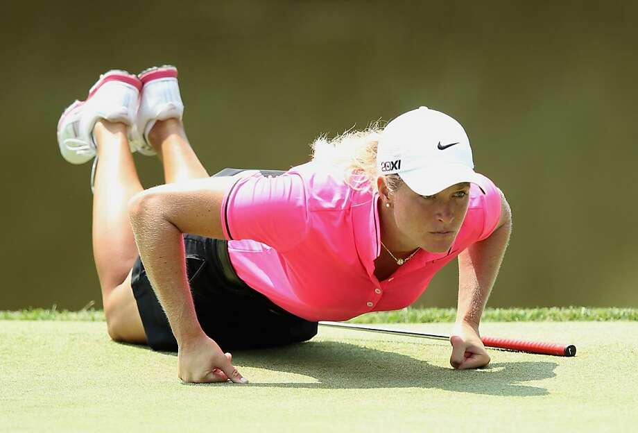 KOHLER, WI - JULY 06:  Suzann Pettersen of Norway lines up a putt on the ninth green during the second round of the 2012 U.S. Women's Open on July 6, 2012 at Blackwolf Run in Kohler, Wisconsin.  (Photo by Scott Halleran/Getty Images) Photo: Scott Halleran, Getty Images