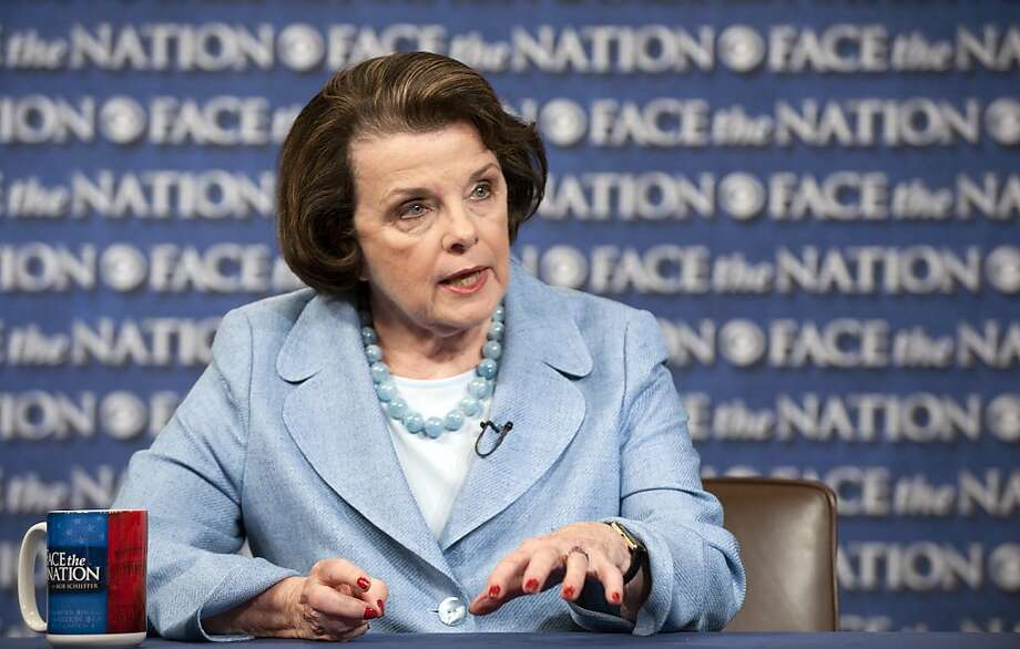In this image provided by CBS, Sen. Dianne Feinstein, D-Calif., appears on Face the Nation on Sunday, June 10, 2012, in Washington. Feinstein, chair of the Senate Select Committee on Intelligence, spoke on the recent national security leaks. (AP Photo/CBS News, Chris Usher) Photo: Chris Usher, Associated Press