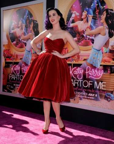 "Katy Perry arrives at the premiere of her new movie ""Katy Perry: Part Of Me"" on June 26 in Hollywood, California. (Kevin Winter / Getty Images)"