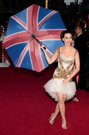 Katy Perry at the European premiere of her new movie on July 3 in London.  (Ian Gavan / Getty Images)
