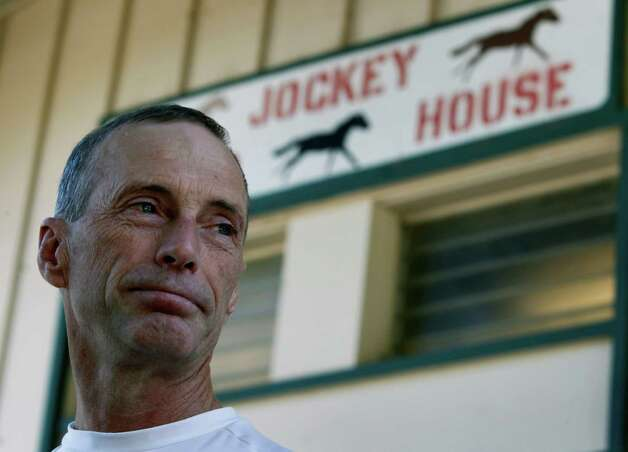 Jockey Russell Baze talks about  Jorge Herrera at the Alameda County Fair in Pleasanton, Calif. on Friday, July 6, 2012. Herrera was the jockey who died while riding Morito in the eighth race on Thursday. Photo: Paul Chinn, The Chronicle