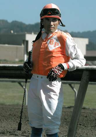 Jockey Jorge Herrera died after he was thrown from race horse Morito during a race at the Alameda County Fairgrounds in Pleasanton, Calif. on Thursday, July 5, 2012. Photo: Courtesy Of Nora Lee