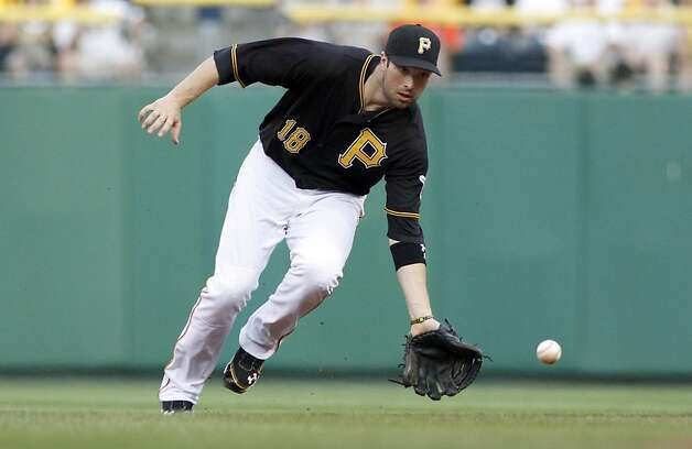PITTSBURGH, PA - JULY 6:  Neil Walker #18 of the Pittsburgh Pirates fields a ground ball against the San Francisco Giants during the game on July 6, 2012 at PNC Park in Pittsburgh, Pennsylvania.  (Photo by Justin K. Aller/Getty Images) Photo: Justin K. Aller, Getty Images
