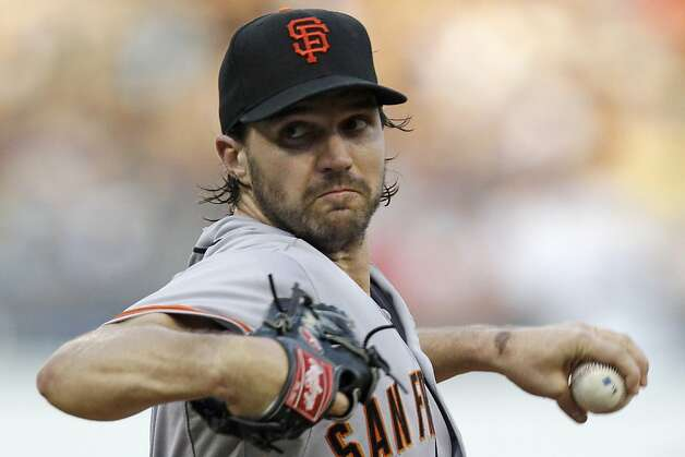 San Francisco Giants pitcher Barry Zito delivers during the third inning of a baseball game against the Pittsburgh Pirates in Pittsburgh, Friday, July 6, 2012. (AP Photo/Gene J. Puskar) Photo: Gene J. Puskar, Associated Press