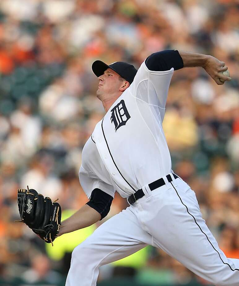 DETROIT, MI - JULY 06:  Drew Smyly #33 of the Detroit Tigers pitches in the second inning of the game against the Kansas City Royals at Comerica Park on July 6, 2012 in Detroit, Michigan.  (Photo by Leon Halip/Getty Images) Photo: Leon Halip, Getty Images