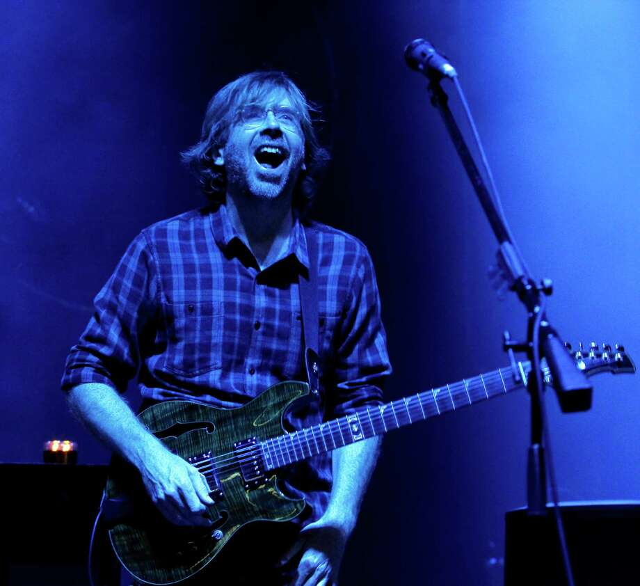 Trey Anastasio, guitarist and lead vocalist for Phish, performs at the Saratoga Performing Arts Center Friday night, July 6, 2012 in Saratoga Springs, N.Y. (Dan Little/Special to the Times Union) Photo: Dan Little / 00018342A