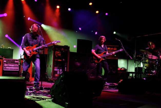 Trey Anastasio, left, lead vocalist and guitarist the band Phish, and Mike Gordon, right, on bass, perform at the Saratoga Performing Arts Center Friday night, July 6, 2012 in Saratoga Springs, N.Y. (Dan Little/Special to the Times Union) Photo: Dan Little / Copyright: All Rights Reserved Brett Carlsen