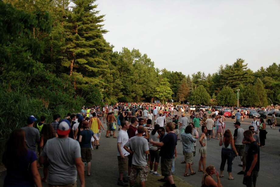 Fans pour into the Saratoga Performing Arts Center for the Friday night performance of the band Phish, July 6, 2012 in Saratoga Springs, N.Y. (Dan Little/Special to the Times Union) Photo: Dan Little / Copyright: All Rights Reserved Brett Carlsen