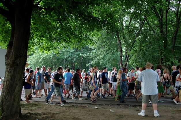 Fans gather for the Friday night performance of the band Phish, July 6, 2012 at the Saratoga Performing Arts Center in Saratoga Springs, N.Y. (Dan Little/Special to the Times Union) Photo: Dan Little / Copyright: All Rights Reserved Brett Carlsen