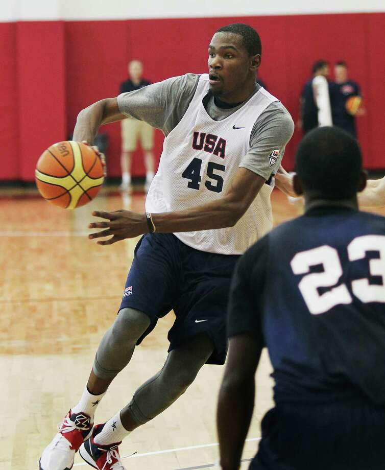 Kevin Durant is one of 15 players practicing in Las Vegas before the official Team USA is cut to 12 members today ahead of its first game July 29. Photo: Jason Bean / Las Vegas Review-Journal 2012 ©