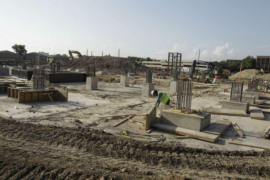 Construction shown at Granite Briaripark Green, 3141 Briarpark Drive, Thursday, July 5, 2012, in Houston. ( Melissa Phillip / Houston Chronicle ) Photo: Melissa Phillip / © 2012 Houston Chronicle