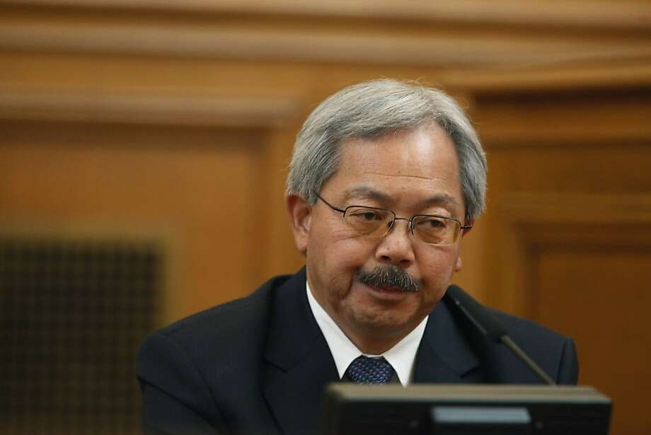 Mayor Ed Lee's testimony before the Ethics Commission has been called into question at suspended Sheriff Ross Mirkarimi's misconduct hearing at San Francisco's City Hall. Photo: Lea Suzuki, The Chronicle