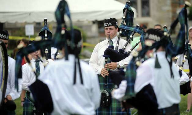 during the Round Hill Highland Games at Cranbury Park in Norwalk on Saturday, July 7, 2012. Photo: Lindsay Niegelberg / Stamford Advocate
