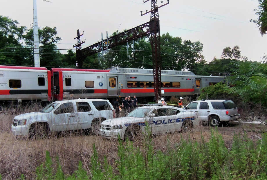 A northbound Metro North train struck and killed a person behind the Kings Highway Stop & Shop supermarket at about 6:30 p.m. in Fairfield, Conn. on Saturday July 7, 2012. Photo: John Burgeson / Connecticut Post