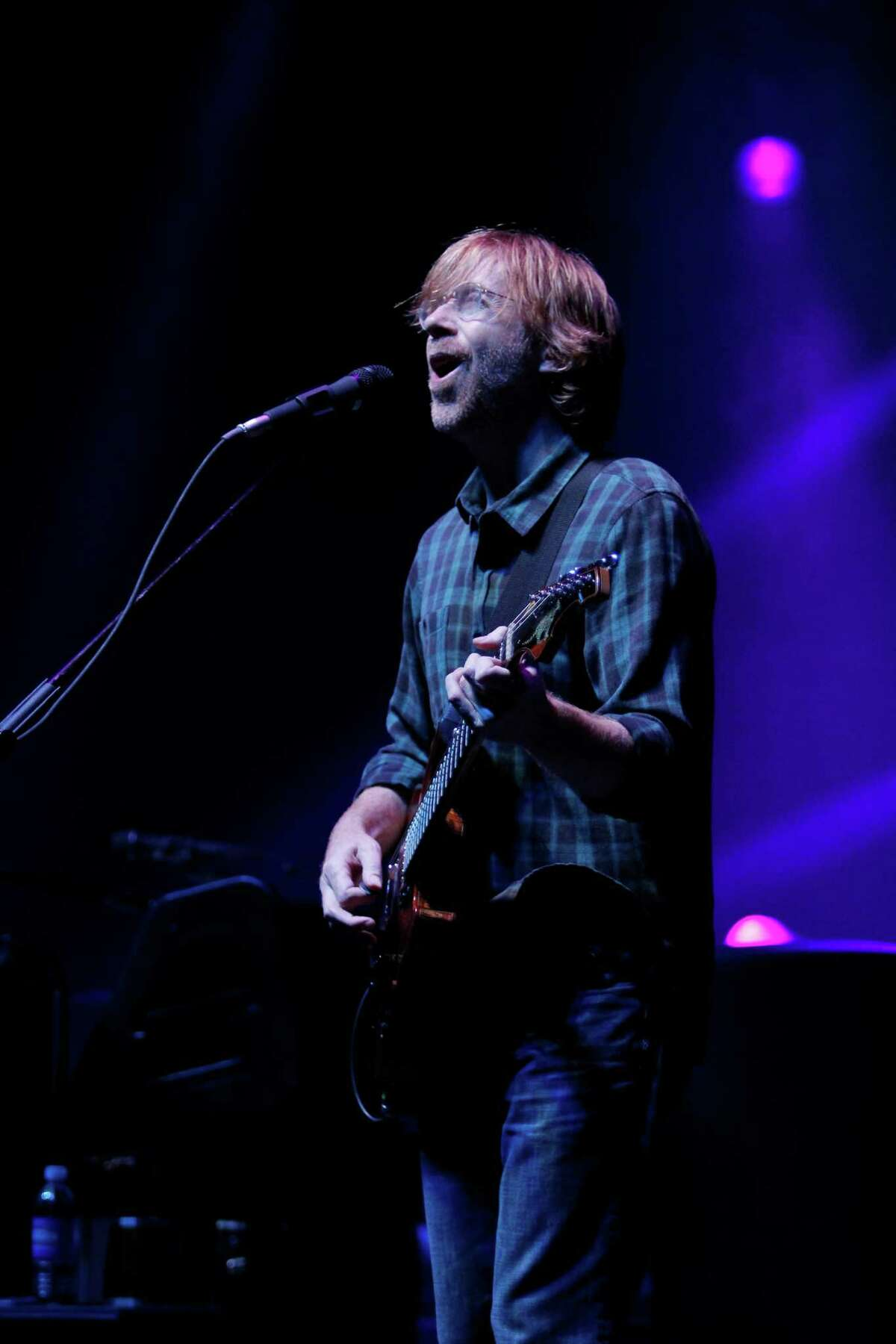 Can't get enough Phish? Click through the slideshow of their concerts in the Capital Region and beyond. Trey Anastasio lead vocalist and guitarist for the band Phish, performs at the Saratoga Performing Arts Center Friday night, July 6, 2012 in Saratoga Springs, N.Y. (Dan Little/Special to the Times Union)