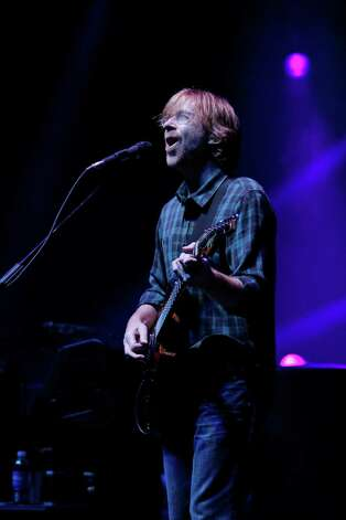 Trey Anastasio lead vocalist and guitarist for the band Phish, performs at the Saratoga Performing Arts Center Friday night, July 6, 2012 in Saratoga Springs, N.Y. (Dan Little/Special to the Times Union) Photo: Dan Little / 00018342A
