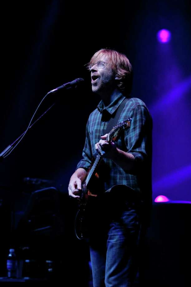 Trey Anastasio, lead vocalist and guitarist for the band Phish, performs at the Saratoga Performing Arts Center Friday night, July 6, 2012 in Saratoga Springs, N.Y. (Dan Little/Special to the Times Union) Photo: Dan Little / 00018342A