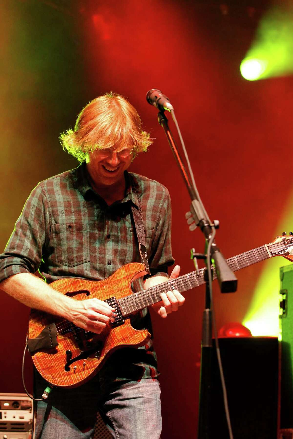 Trey Anastasio, lead vocalist and guitarist for the band Phish, performs at the Saratoga Performing Arts Center Friday night, July 6, 2012 in Saratoga Springs, N.Y. (Dan Little/Special to the Times Union)
