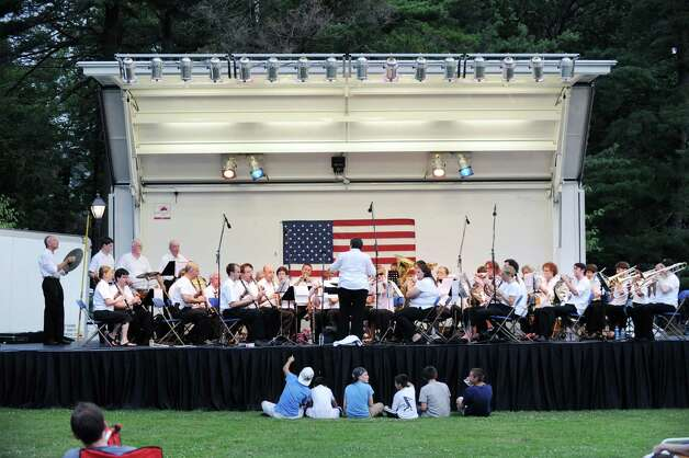 The Sound Beach Community Band plays prior to the town fireworks display at Binney Park in Old Greenwich, Saturday night, July 7, 2012. Photo: Bob Luckey / Greenwich Time