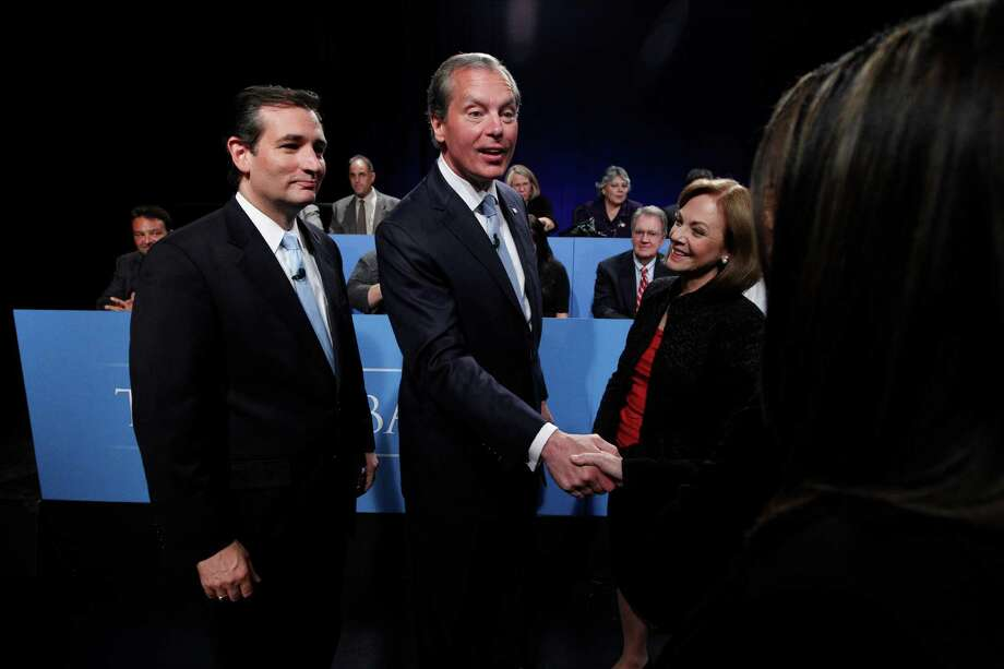 U.S. Senate candidates Ted Cruz, left, and Texas Lt. Gov. David Dewhurst. Photo: LM Otero / AP