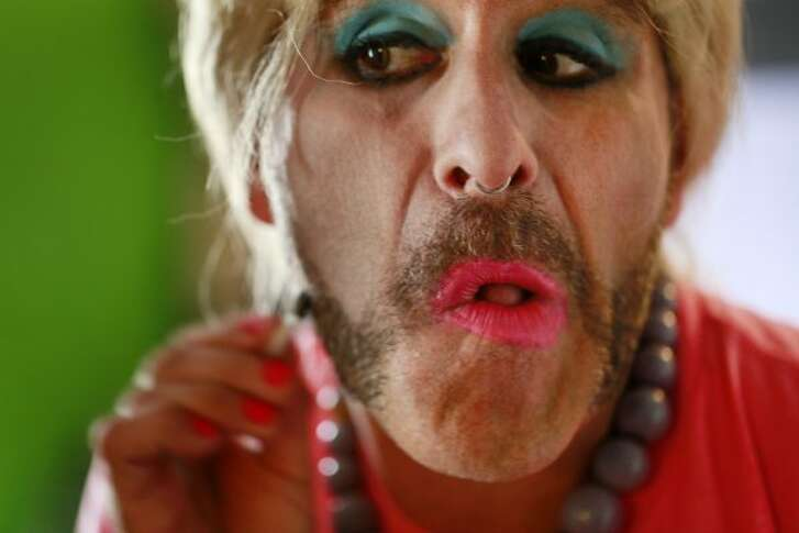 Anthony Torres transforms his look into Bubbles in San Francisco, Calif. (The Chronicle)