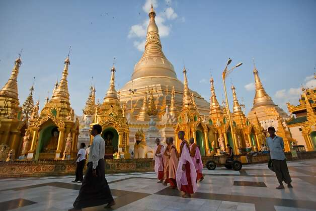 People visit the Shwedagon Paya on December 05, 2010 in Yangon, Myanmar. Photo: Getty Images