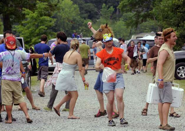 Phish fans engage in merriment at Lee's Park campground in Saratoga Springs N.Y. Saturday July 7, 2012. (Michael P. Farrell/Times Union) Photo: Michael P. Farrell