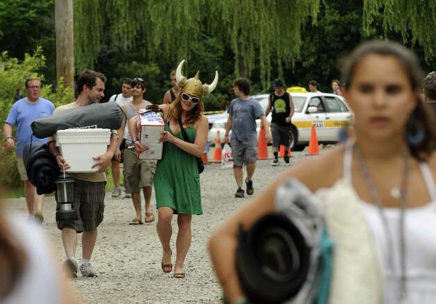 Phish fans file in to Lee's Park campground in Saratoga Springs N.Y. Saturday July 7, 2012. (Michael P. Farrell/Times Union) Photo: Michael P. Farrell