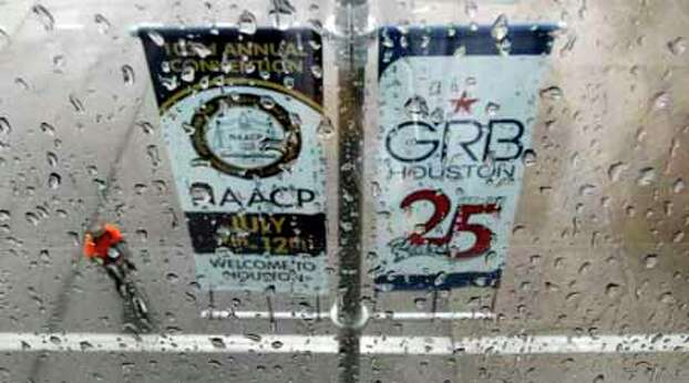 Storms during the week don't put a damper on the NAACP National Convention at the George R. Brown Convention Center in Houston. Photo: James Nielsen, . / © Houston Chronicle 2012