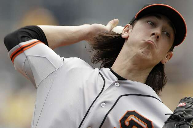 San Francisco Giants pitcher Tim Lincecum delivers during the first inning of a baseball game against the Pittsburgh Pirates  in Pittsburgh Sunday, July 8, 2012. (AP Photo/Gene J. Puskar) Photo: Gene J. Puskar, Associated Press