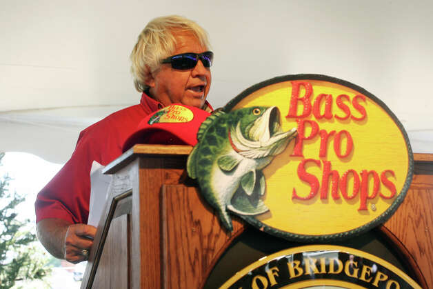 Angler and television host Jimmy Houston speaks at an event to announce Bass Pro Shops as the first tenant in the Steel Point redevelopment in Bridgeport on Sunday, July 8, 2012. Photo: B.K. Angeletti / Connecticut Post freelance B.K. Angeletti