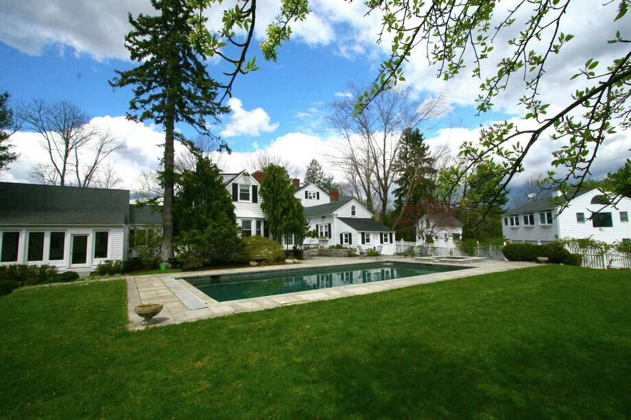 The Merwin House's many wings can be seen from this view of the pool. Photo: Contributed Photo