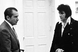 This photo isn't local, but still a good one. When did President Richard Nixon meet Elvis Presley? (seattlepi.com file)