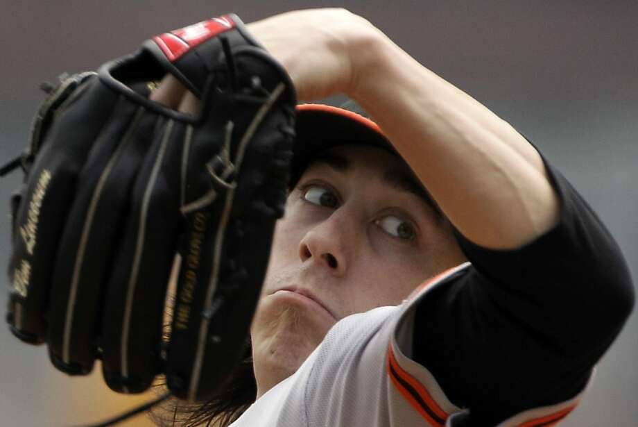 San Francisco Giants pitcher Tim Lincecum delivers during the first inning of a baseball game against the Pittsburgh Pirates in Pittsburgh, Sunday, July 8, 2012. (AP Photo/Gene J. Puskar) Photo: Gene J. Puskar, Associated Press