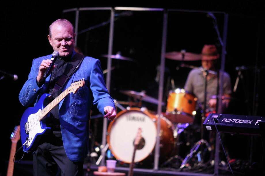 Glen Campbell performs during his Goodbye Tour concert at the Grand 1894 Opera House on Sunday, July 8, 2012 in Galveston, Texas. Photo: J. Patric Schneider, For The Chronicle / Houston Chronicle