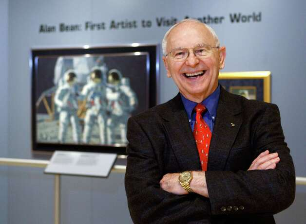 Alan Bean: Lunar module pilot on Apollo 12, mans second lunar landing, and fourth man to walk on the moon. He resigned from NASA in June 1981 to devote his full time to painting. Photo: Harry Cabluck, Associated Press / AP