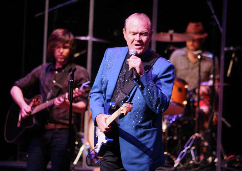Glen Campbell sang his hits of the 1960s and '70s at the Grand 1894 Opera House, including 'Galveston.' Photo: J. Patric Schneider / Houston Chronicle