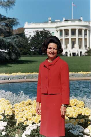 Lady Bird Johnson: First Lady, wife of President Lyndon B. Johnson, recipient of Presidential Medal of Freedom and the Congressional Gold Medal. Photo: LBJ Library / Robert Knudsen / LBJ Library