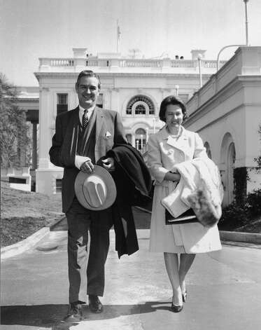 John B. and Nellie Connally: 39th Governor and First Lady of Texas, known for riding in the car with President John F. Kennedy when he was assasinated in Dallas in 1963. John Connally also served as Secretary of the Navy under Kennedy, and as Secretary of the Treasury. Photo: White House / Nellie Connally