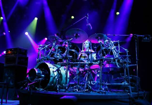 Drummer Jon Fishman for the band Phish, performs at the Saratoga Performing Arts Center Friday night, July 6, 2012 in Saratoga Springs, N.Y. (Dan Little/Special to the Times Union) (The Times Union)