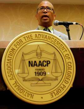 The Rev. Reginald Lillie, president of the NAACP Houston Branch, speaks Friday to kick off the national convention in Houston. Photo: Cody Duty, . / © 2011 Houston Chronicle