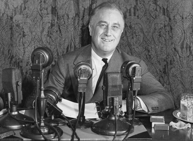 Franklin Delano Roosevelt — Although his administration spanned the Depression and World War II, one of the most memorable moments took place in 1939, when FDR served England's King George IV and Queen Elizabeth hot dogs during a garden party. Supposedly, the king ate them with his hands like an American, but the queen daintily used a knife and fork. Photo: Central Press, Getty Images / Hulton Archive