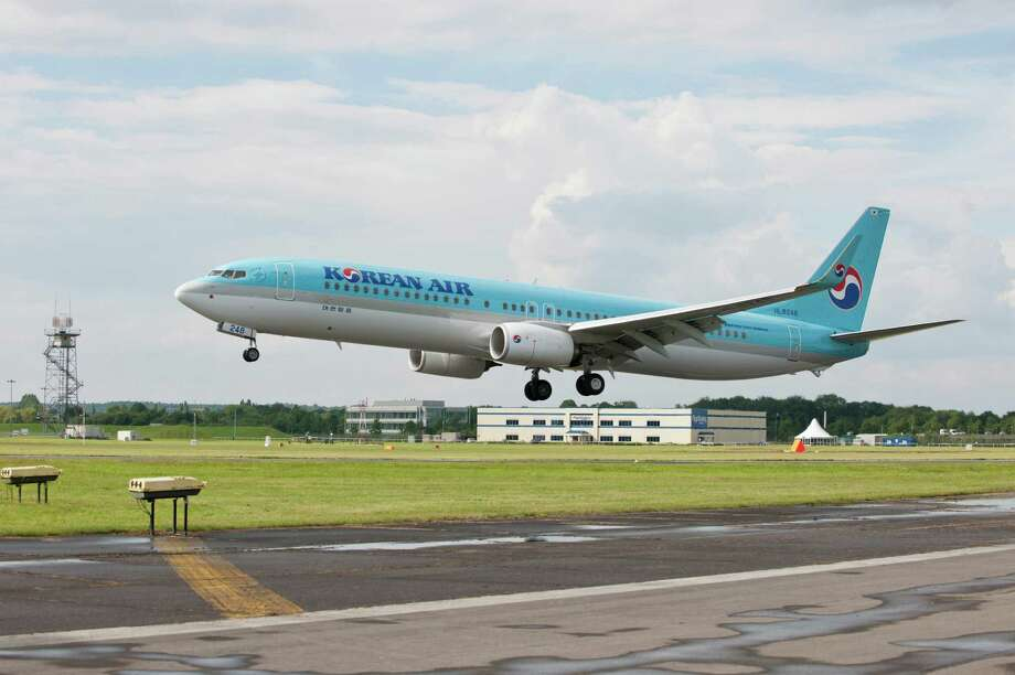 The top major Asian carrier was Japan Airlines (which was the top global airline), at  90.35 percent on time. Since we've already featured Japan Airlines, here's a jet of Korean Air, which was a finalist, along with All Nippon Airways, Malaysia Airlines and Singapore Airlines. Photo: Ed Turner, The Boeing Co. / 2012 The Boeing Company